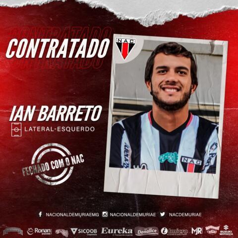 Mais um reforço: NAC acerta a contratação do lateral-esquerdo Ian Barreto*