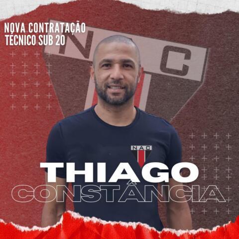 Thiago Constância será o treinador do NAC no Mineiro Sub-20