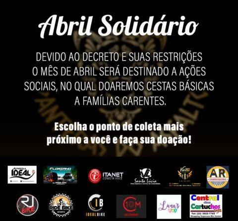 Viação Santa Lúcia abraça a campanha Abril Solidário, em Itaperuna.