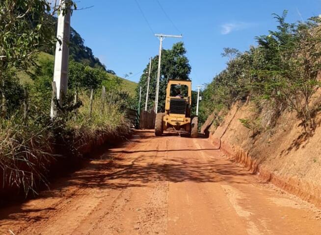 Novos trechos são revitalizados nas estradas rurais de Muriaé